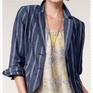 CAbi Striped Linen Blazer